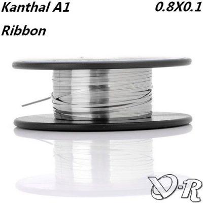 kanthal a1 ribbon 08 01 fil resistif plat